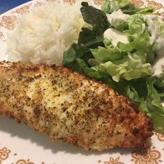 Air fried breaded white fish - by CYK Turned out perfectly! Fish Recipe Panko, Air Fry Fish Recipe, Air Fryer Tilapia Recipe, Air Fried Fish, Nuwave Air Fryer, White Fish Recipes, Salmon Recipes, Seafood Recipes, Healthy Tilapia