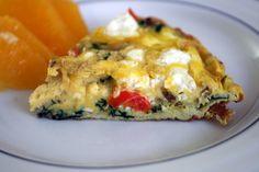 Spinach, Mushroom, Goat Cheese Frittata