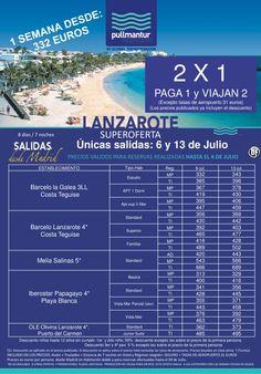 Super Oferta 2 X 1 Lanzarote 2 Salidas 6 y 13 de Julio ultimo minuto - http://zocotours.com/super-oferta-2-x-1-lanzarote-2-salidas-6-y-13-de-julio-ultimo-minuto/
