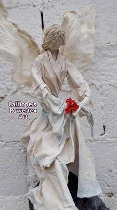 Διακοσμητικό αγαλματίδιο σε μορφή αγγέλου, φτιαγμένο με οικολογικά σκλήρυνσης Powertex   Διαστάσεις: 83ΥΧ24ΠΧ46Φ   Κωδικός Νο 99 Sculpture, Statue, Blog, Art, Art Background, Kunst, Sculptures, Blogging, Performing Arts