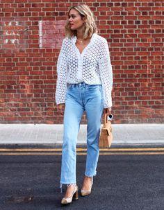 adenorah usa calca jeans com blusa branca