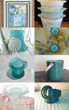 Aqua -- A V2 Team Treasury Plus One by Mrs. A. on Etsy--Pinned with TreasuryPin.com