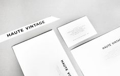 Haute Vintage - Branding on Behance
