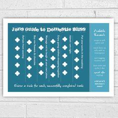 rewards chart for boyfriend,husband,man print by afewhometruths | notonthehighstreet.com