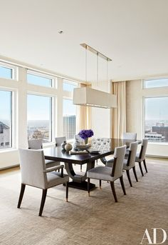 Look Inside This Luminous Milwaukee Residence Long Dining TablesModern