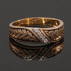 Vintage Mens 14k Yellow Gold and Diamond by JewelryWanderlust, $695.00