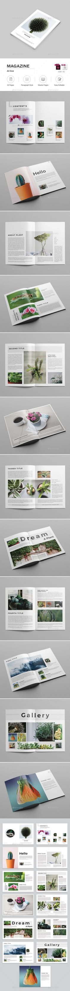 Magazine  — InDesign Template #inspiration #indesign magazine template #minimal • Download ➝ https://graphicriver.net/item/magazine/18599072?ref=pxcr