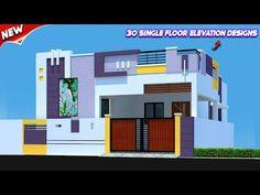 NIKSHAIL - YouTube House Outer Design, House Main Gates Design, Single Floor House Design, Two Story House Design, House Outside Design, House Front Design, Small House Design, Front Elevation Designs, House Elevation