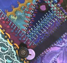 I dropped the button box - crazy quilt block 11