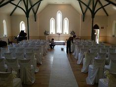 Wedding ceremony at Enoch Turner schoolhouse