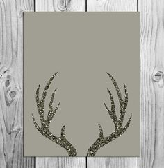 Deer Antlers Printable Art  Instant by ScubamouseStudiosJr on Etsy, $2.50