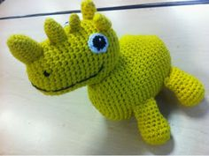 Garnkusserne   Lækre hækleopskrifter / DIY til dig, hjemmet og baby  : Opskrift på et hæklet (Otto er et) næsehorn (DIY)