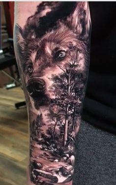 Animal Sleeve Tattoo, Sleeve Tattoos, Wolf Tattoos, Arm Tattoo, Wolves, Dan, Outdoors, News, Animals