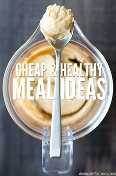 Stuck in a dinner rut? These healthy meal ideas includes 4 weeks worth of delicious real food recipes for a budget, including recipes for breakfast, lunch and dessert too! :: DontWastetheCrumbs.com
