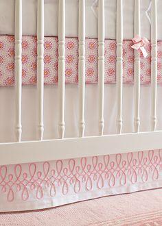 Swirl Crib Bedding. #serenaandlily #nursery