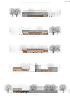 línea de competencia - premio: © Bär, Stadelmann, Stöcker Architekten Mehr La mejor imagen sobre healthy desserts p - Design Presentation, Architecture Presentation Board, Architecture Board, Architecture Drawings, School Architecture, Architecture Design, Architecture Definition, Architecture Diagrams, Architectural Presentation
