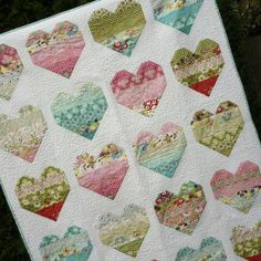 PDF Quilt Pattern Jelly Roll  Take Heart  5 sizes by MackandMabel, $8.00