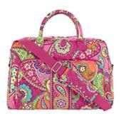 Weekender in Pink Swirls | Vera Bradley can be used as overnight bag after wedding reception