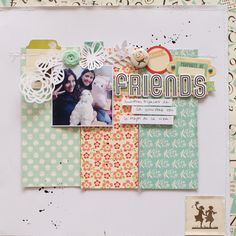 #papercraft #scrapbook #layout. Friends by caariilup at @studio_calico