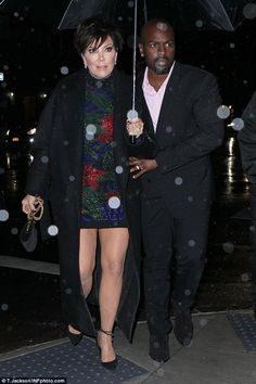 Wedding rings? Kris Jenner and Corey Gamble both had on bands on their wedding fingers when heading to Nobu in NYC on November 10; Stat has claimed she wants to marry him