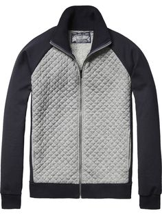Quilted Track Jacket | Jackets & Coats | Men's Clothing at Scotch & Soda