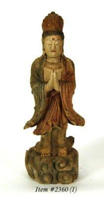 Vintage Wood Kwan Yin at Peaceful Prayer