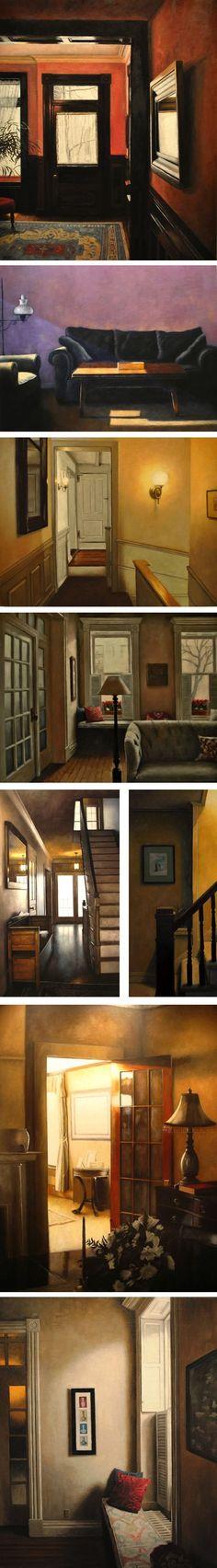 Nick Patten - notice how Edward Hopper managed to instil life in his lonley rooms, I don't think Patten does despite lovely artwork