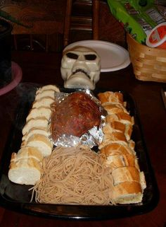 Skele -meal, Halloween themed dinner.  My kids  love the spooky meal.