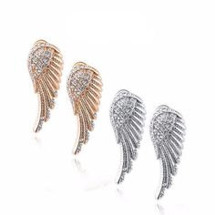 Delightful Angel Wings Earrings is the best anniversary gift for the lady of your life. This one-of-a-kind angel wing earring, with zircons embellishment on every details and satin metal finish, embarks the beauty and elegance of heavenly powers. The feather shape descends more closely to the neck and ends with more charm.https://www.lindastars.com/collections/lindas-angels-earrings/products/delightful-angel-wings-earrings