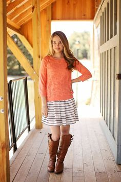 sweater over a dress for more casual look!