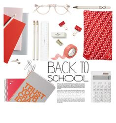"""Back to school"" by einn-enna ❤ liked on Polyvore featuring interior, interiors, interior design, home, home decor, interior decorating, Clips, JOTT, ZIPIT and Kate Spade"