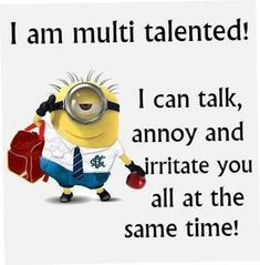 Minion Quotes & Memes Top 40 Funny despicable me Minions Quotes Top 40 Funny despicable me Minions Quotes I love the minions . Lilo & Stitch Quotes, Amazing Animation Film for Children 32 Snarky and Funny Quotes - 30 Hilarious Minions Q. Funny Minion Pictures, Funny Minion Memes, Minions Quotes, Hilarious Memes, Memes Humor, Funny Pics, Funny Images, Humor Quotes, Minion Sayings