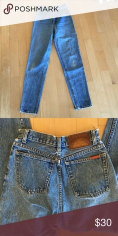 90's vintage mom jeans Amazing vintage high waisted mom jeans. Super nice, real denim, and the perfect amount of natural distressing Vintage Jeans Straight Leg