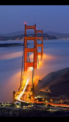The Two Towers - Golden Gate Bridge - San Francisco, CA - fog at sunrise - Willie Huang Places Around The World, The Places Youll Go, Places To See, Around The Worlds, Ponte Golden Gate, Golden Gate Bridge, The Two Towers, Belle Photo, Wonders Of The World