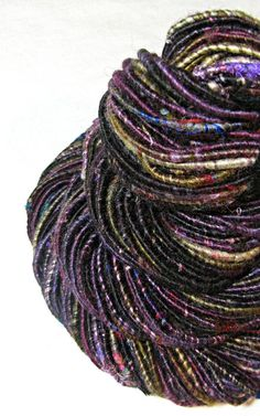 Handspun Art Yarn Corespun Sheeping Beauties by SheepingBeauty