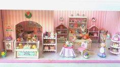 1:48 cake candy shop dollhouse miniature