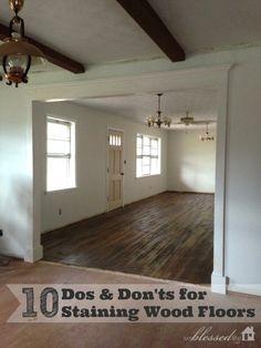 10 Tips for Staining Wood Floors | MyBlessedLife.net