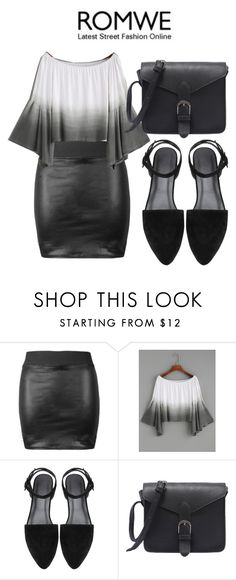 """""""Romwe: Ombre off shoulder"""" by glamand ❤ liked on Polyvore"""