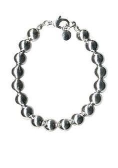 Kim Rogers  Silver-Tone Beaded Stretch Bracelet