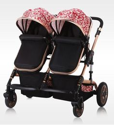 Twin Baby Stroller Easy Folding Light Weight Double Baby Girl Strollers, Twin Strollers, Double Strollers, Twin Babies, Twins, Baby Accessories, Travel Accessories, Baby Necessities, Travel System