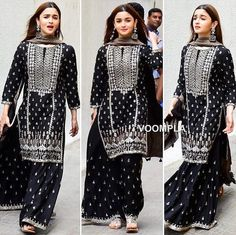Online shopping for women Salwar Suits Indian. Latest collection of Anarkali, party wear, casual wear, Punjabi at cheap price Pakistani Dress Design, Pakistani Dresses, Indian Dresses, Indian Outfits, Pakistani Sharara, Pakistani Clothes Casual, Indian Attire, Indian Wear, Kurta Designs