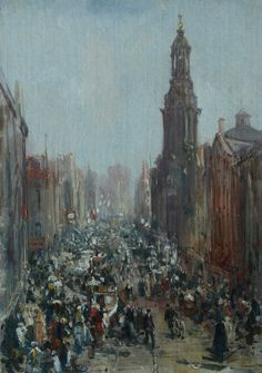 William Webb - 'Saturday Morning, St. Mary's Gate, Manchester'