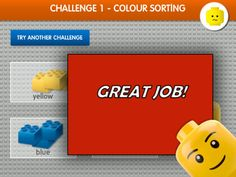 Interactive lessons in online learning using LEGO bricks