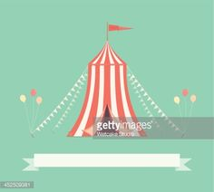 Vector Art : Vintage Circus Tent with Pennants