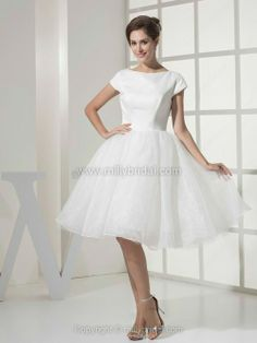 Ball Gown Knee-length Wedding Dress