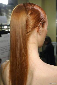 bellos peinados de novias moda pelo liso