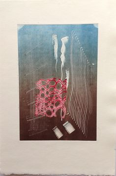 Untitled (Underwater): Monoprint on Stonehenge paper. Image size 12.5cm x 19cm. SOLD