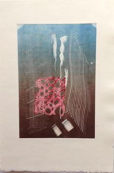 Untitled (Underwater): Monoprint on Stonehenge paper. Image size 12.5cm x 19cm. SOLD