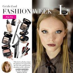 Avon oli mukana New Yorkin muotiviikoilla Dennis Basson näytöksessä! Lauren Andersenin luoma look sai inspiraationsa 70-luvun glamourista. | Avon makeup at NYFW New York Fashion Week with Dennis Basso
