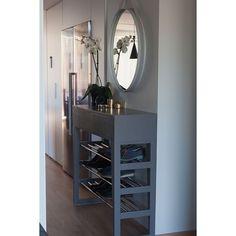 skohylle kombidert med kommode / speil
